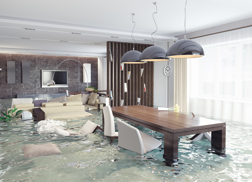 Flooding Interior - Flood Damage Restoration San Diego