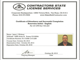Jason Widmer State Licensed Contractor