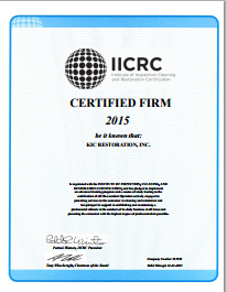 KIC Restoration IICRC Certified Firm